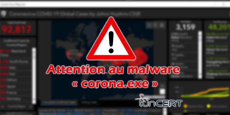 L'ANSI alerte contre un malware espion surnommé ''Corona_exe''