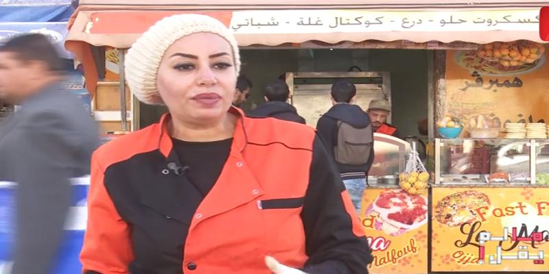 بالفيديو: الممثلة منال عبد القوي تبيع الفريكاسي