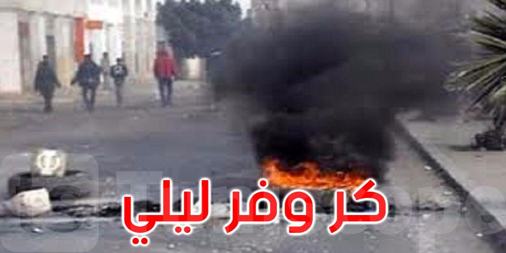 بعد بدء توقيت حظر الجولان: عمليات كر وفر بين الأمنيين وأعداد من الشباب في عدة مناطق