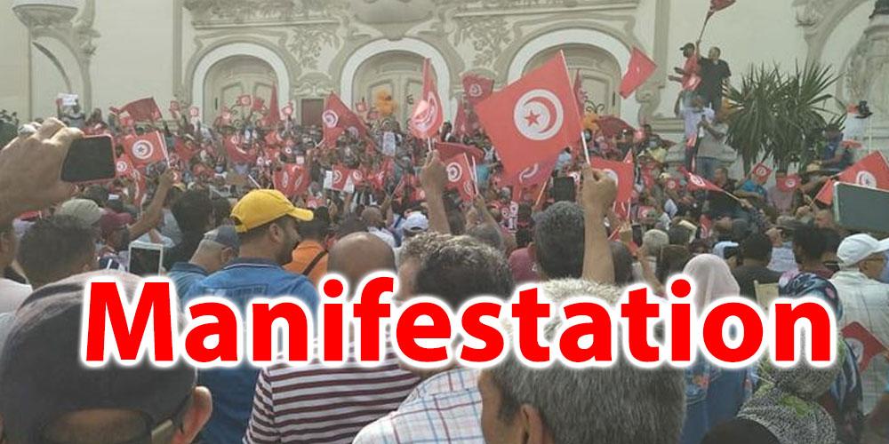 En vidéo : Des manifestants scandent des slogans hostiles à Kais Saied