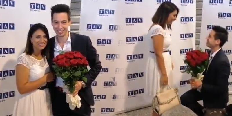 مطار النفيضة: سائح ألماني يتقدّم لخطبة حبيبته التونسية