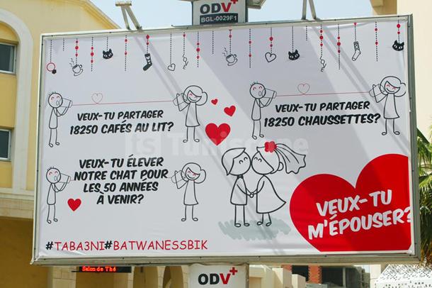 Photo du jour : Une demande en mariage originale sur un panneau urbain au Lac 1