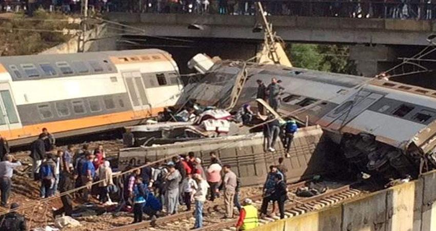 7 قتلى و86 جريحا في حادث خروج قطار عن القضبان في المغرب