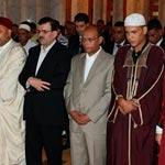 محمد المنصف المرزوقي و علي العريض يؤديان صلاة عيد الفطر