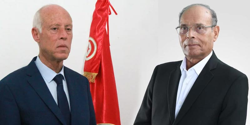 رسمي: المرزوقي يدعم قيس سعيّد للدور الثاني