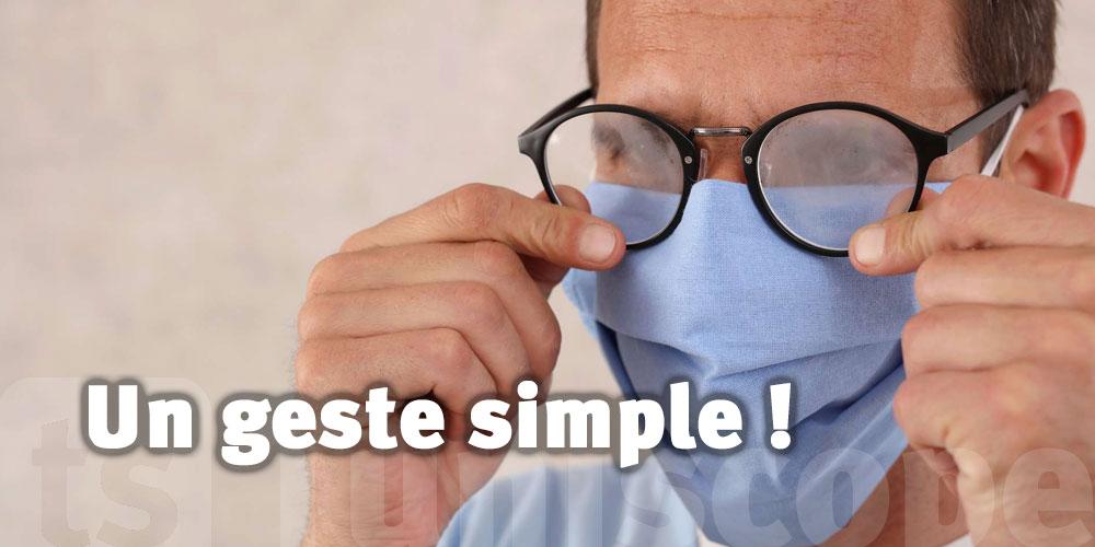 L'astuce pour éviter la buée sur les lunettes à cause du masque