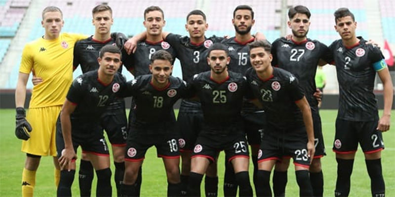 تشكيلة المنتخب الوطني للأواسط خلال المباراة الدولية الودية تونس اليابان