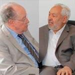 لقاء بين راشد الغنوشي و مصطفى بن جعفر