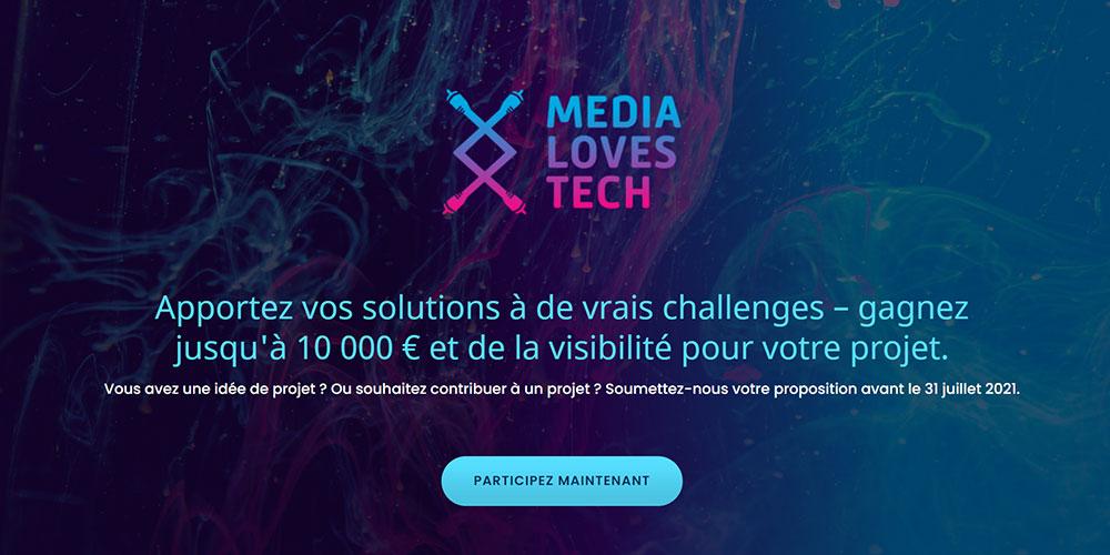 Media Loves Tech 2021 : lancement de la 4ème édition !