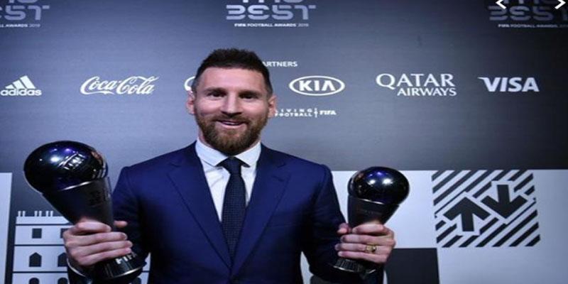 النجم الأرجنتيني ميسي يحصل على جائزة أفضل لاعب في العالم