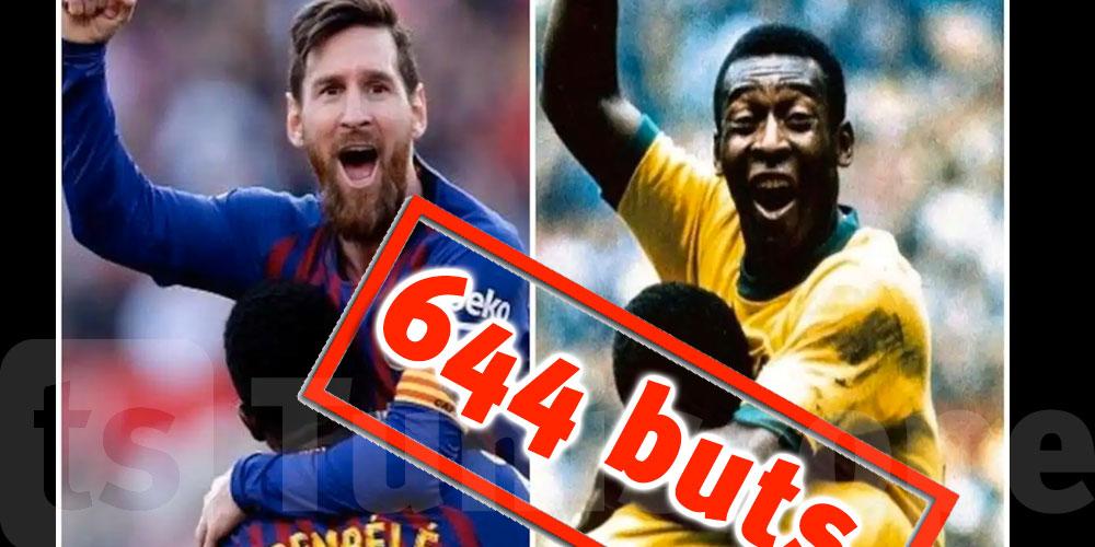 Messi bat le record de Pelé