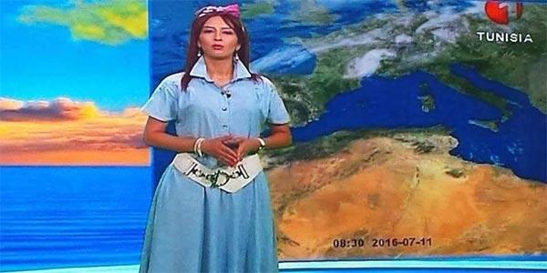 Photo du jour : Quand la présentatrice météo d'El Wataniya 1 fait le buzz