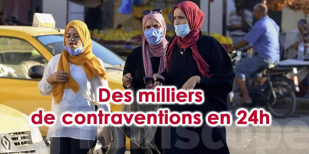 Restrictions sanitaires, des milliers de contraventions en 24h