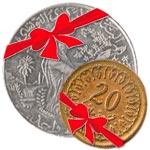 Deux nouvelles pièces de un dinar et de vingt millimes