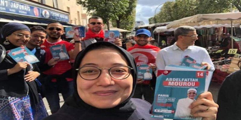 صورة: وزيرة التكوين المهني تقوم بحملة انتخابية بالخارج لفائدة مرشح حزبها