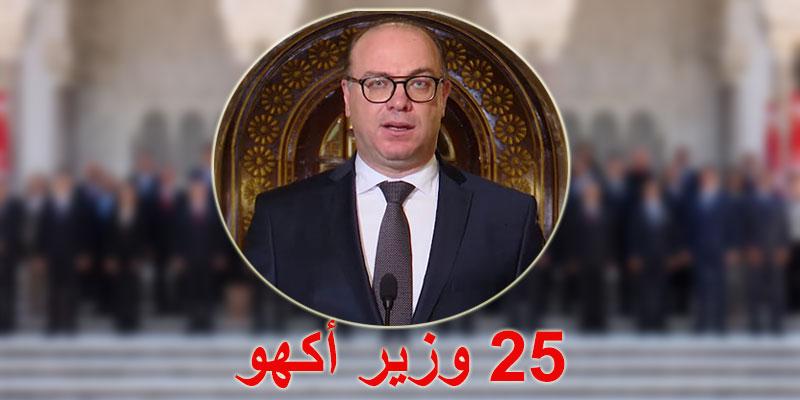 25 وزيرا في حكومة إلياس الفخفاخ