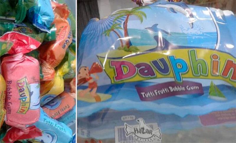 Mise en garde contre la consommation du chewing-gum ''Dauphin-TUTTU FRUTTI''