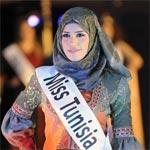 En Photos : Miss Tunisie vêtue d'un hijab lors de la Cérémonie de la Fille Arabe Idéale