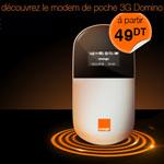 Avec Orange, découvrez le Domino, le modem de poche 3G
