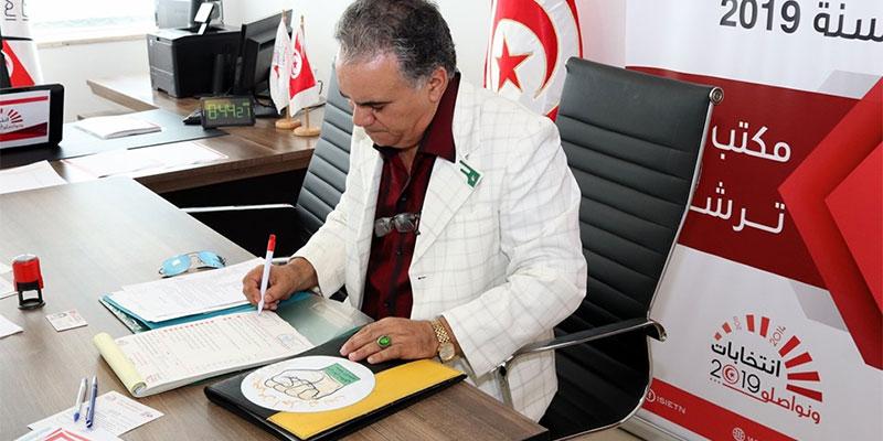 بالصورة، المنصف الوحيشي يقدم ترشحه للإنتخابات الرئاسية