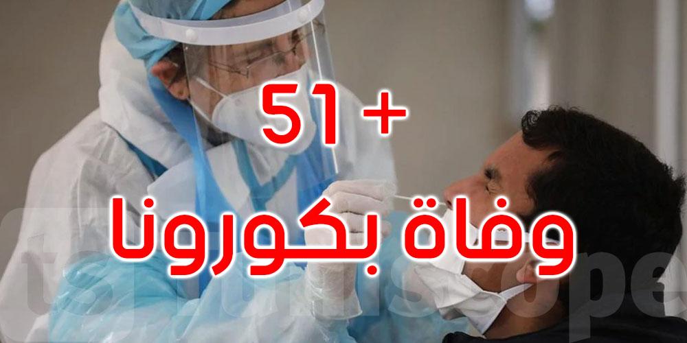 51 حالة وفاة بكورونا في تونس