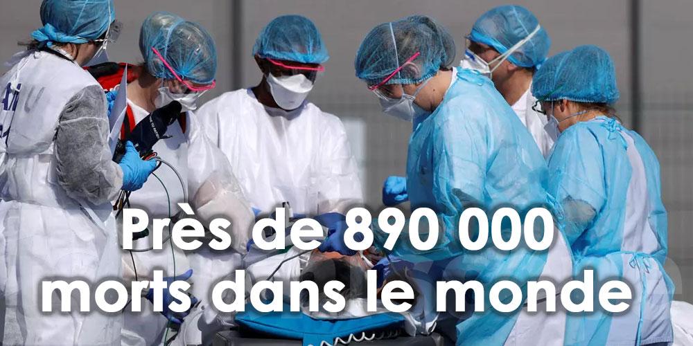 Près de 890 000 morts dans le monde