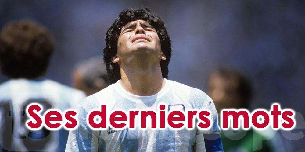 Les derniers mots de Maradona dévoilés par une chaîne de télévision