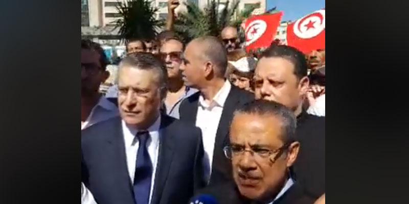 En vidéo : Nabil Karoui maintenu en liberté