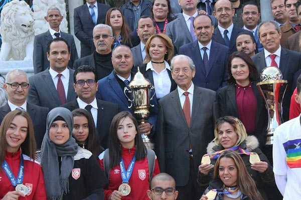 بالصور: بحضور وديع الجريء وماجدولين الشارني... محمد الناصر يكرّم الرياضة التونسية