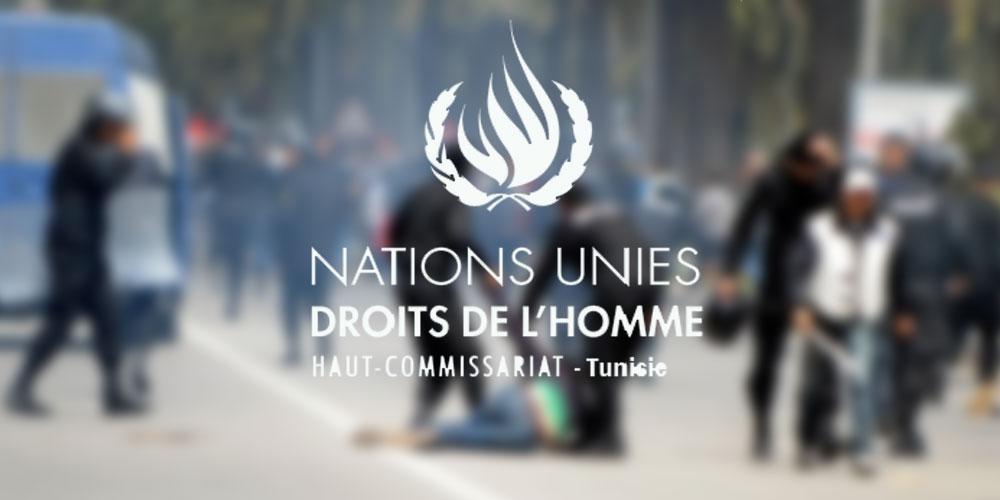 Le Bureau du HCDH en Tunisie est très préoccupé par la persistance d'allégations de graves  violations des droits de l'homme commises par les forces de sécurité intérieure