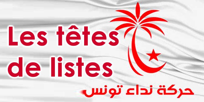 Qui sont les Têtes de listes de Nidaa Tounes ?