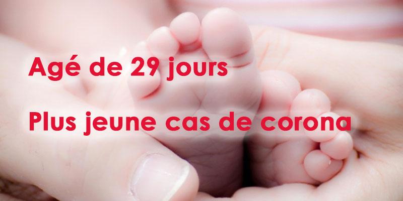 Un nourisson de 29 jours plus jeune cas de Corona en Tunisie