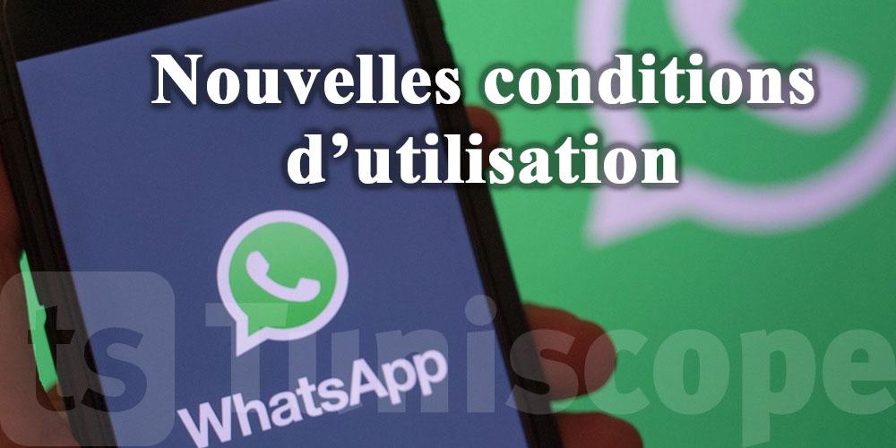 Ces conditions à accepter pour continuer à utiliser WhatsApp après février