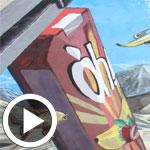 En vidéo - l'art du trompe-l'oeil pour le lancement du nouveau jus Oh!
