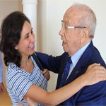 En photos : Rencontre entre Olfa Youssef et Béji Caïd Essebsi à Sousse