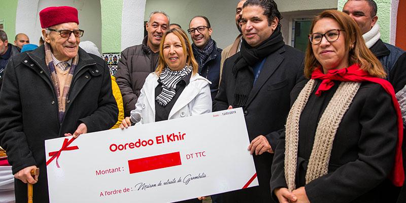 Ooredoo El Khir réchauffe aussi les cœurs des résidents de la maison de retraite de Grombalia