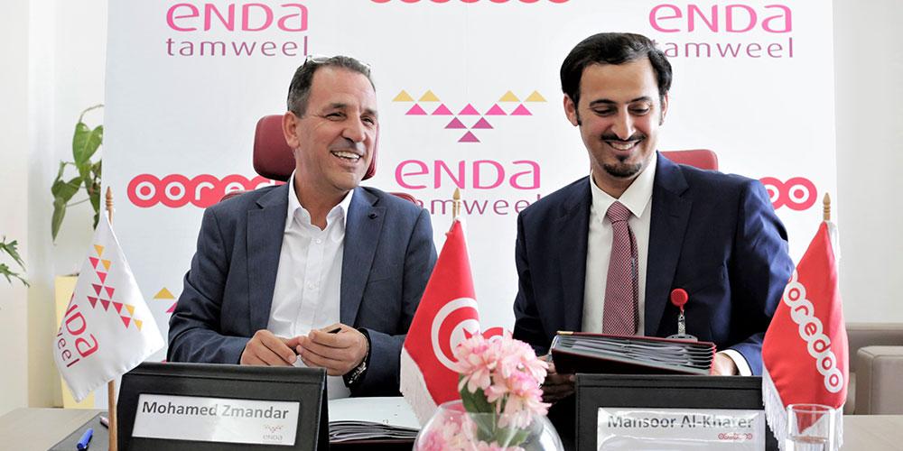 Signature d'une convention de partenariat entre Ooredoo Tunisie et Enda Tamweel