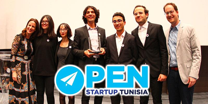 L'équipe ARTAQI victorieuse de la 4ème Edition de Open Start Up  Tunisia