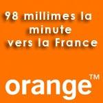 Exceptionnel, cet été Orange baisse le prix de la minute vers la France à 98 millimes