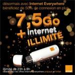 Clé 3G Orange : maintenant 7.5 Go + illimité chaque mois