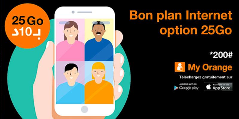 Orange Tunisie se mobilise et lance l'option Bon Plan 25 Go à 10 dt