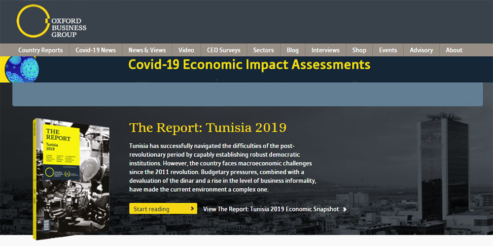 Un rapport de l'Oxford Business Group expose la réussite tunisienne face au Covid-19