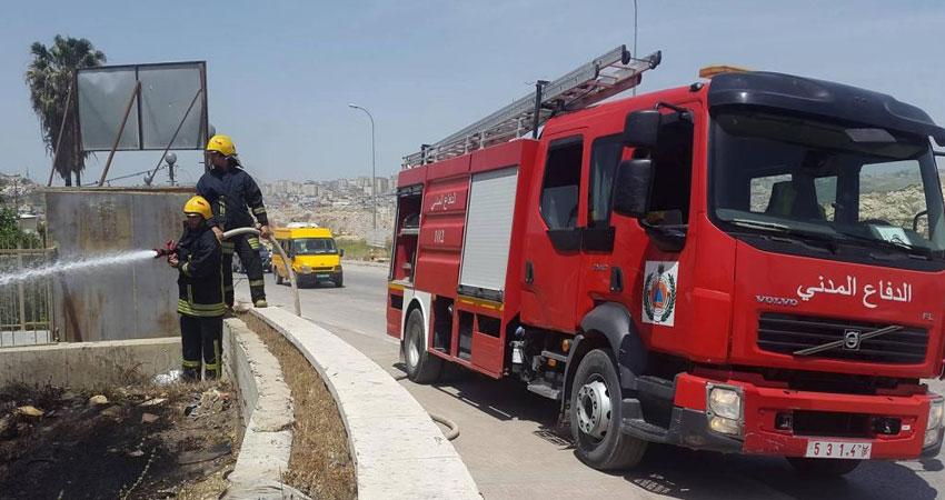 حرائق وإصابات في فلسطين جراء موجة الحر
