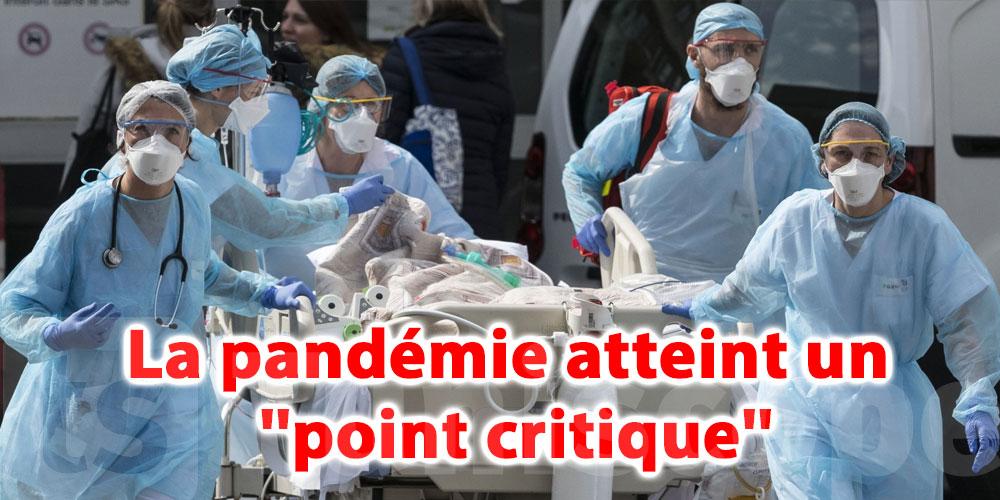 La pandémie atteint un ''point critique'', selon l'OMS
