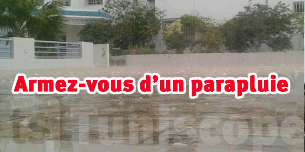 Il pleuvra encore aujourd'hui au nord et aux côtes Est