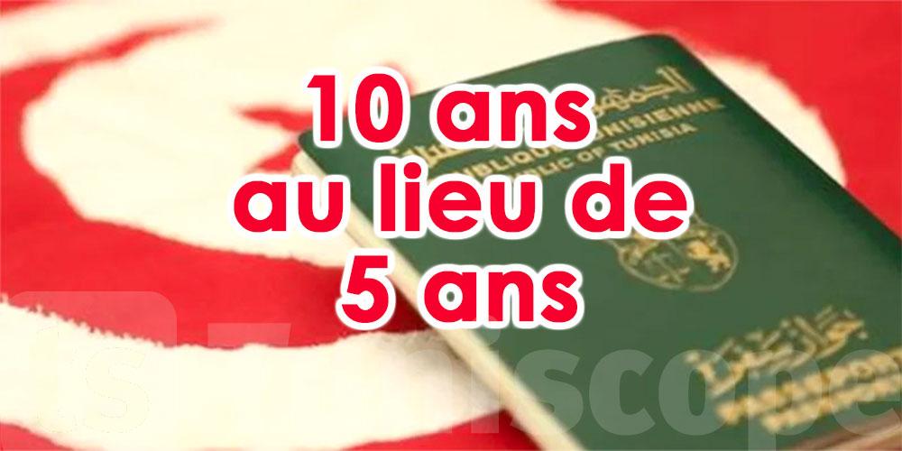 10 ans de validité au lieu de 5 pour un passeport