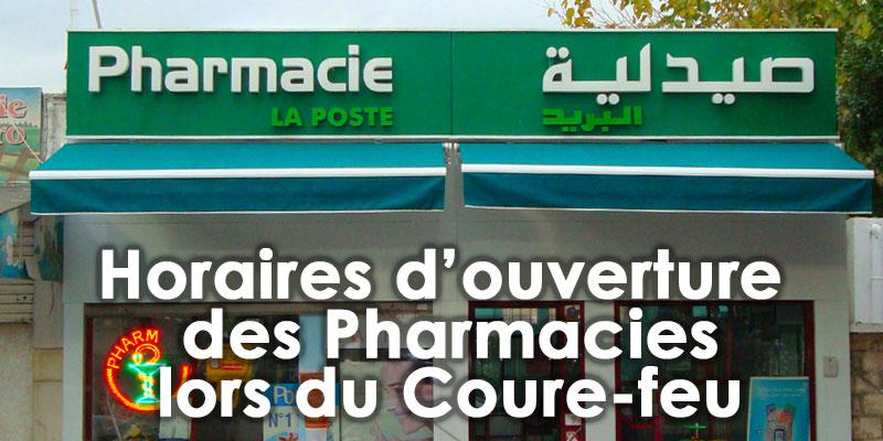 Nouveaux horaires d'ouverture des Pharmacies