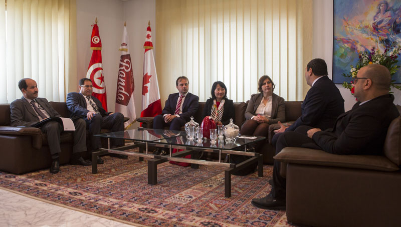 Visite de S.E Mme. Carol McQueen, Ambassadrice du Canada en Tunisie au pôle agroalimentaire Hachicha