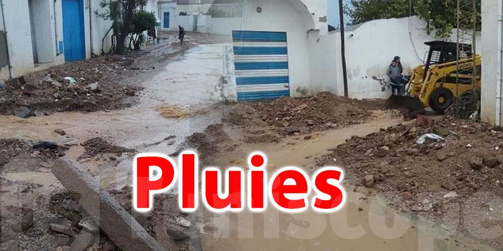 Maisons inondées et voitures bloquées à El Haouaria