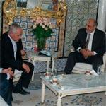 Hamadi Jebali reçoit Houcine Abassi à propos des évènements de Siliana